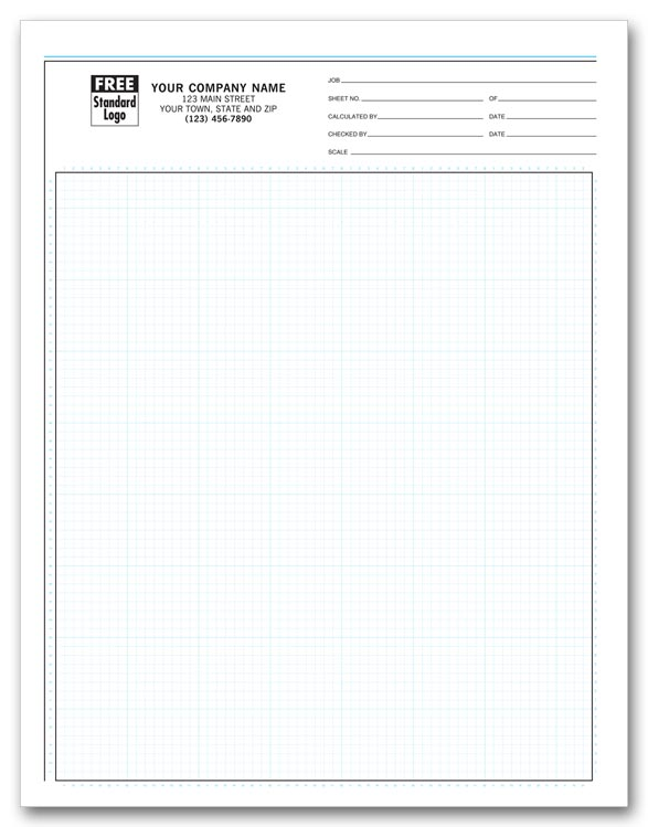 "207 Graph Papers Pro Sketch 1/8"" Padded 8 1/2 X 11"""