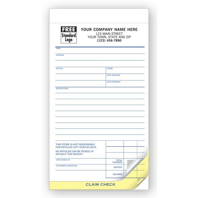 322 Repair Order Forms Jewelry Repair Orders w Poly Bag 4 3/16 x 7 ...