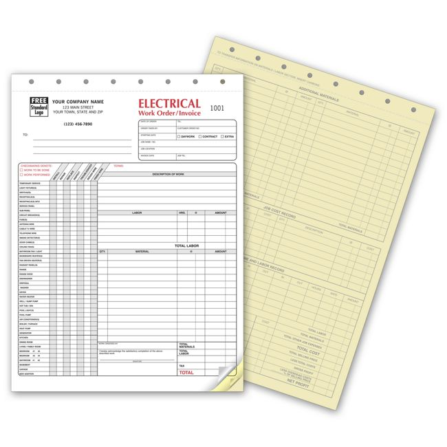 Electrical Contractor Forms