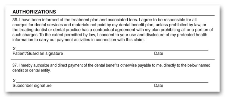 Dental Release Form