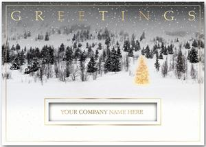 H13621 Golden Hillside Christmas Cards 7 7/8 x 5 5/8