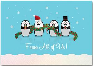 H13662 Penguin Pals Holiday Cards 7 7/8 x 5 5/8