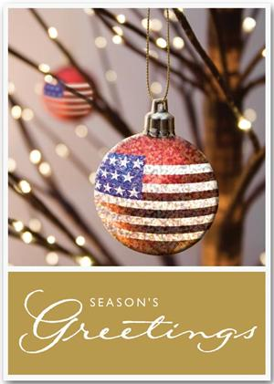 H13663 Star Bangled Ball Holiday Cards 5 5/8 x 7 7/8