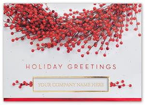 H15620 Berry Festive Holiday Card 7 7/8