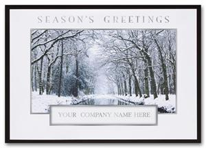 H2623 Winter Interlude Holiday Cards 7 7/8 x 5 5/8