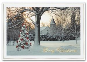 H2647 - N2647 Morning Celebration Christmas Holiday Cards 7 7/8 x 5 5/8""