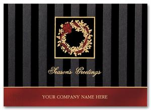 H55944 Dramatic Elegance Business Holiday Cards 7 7/8 x 5 5/8