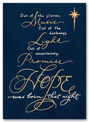 H55953 Spiritual Hope Christmas Cards 5 5/8 x 7 7/8