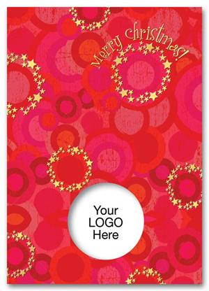 HH1603 Celestial Circles Christmas Card