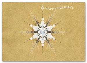HH1688 Stylized Snowflake Holiday Card 7 7/8