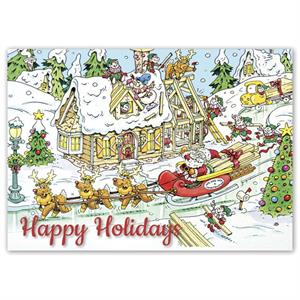 HP16326 - N6326 Holiday Builders Cards 7 7/8 x 5 5/8""