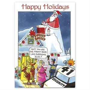 HP16327 - N6327 Call Security Holiday Cards 5 5/8 x 7 7/8""
