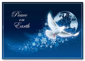 "HP2315 - N2315 Peace Abounds Holiday Card 7 7/8"" x 5 5/8"""