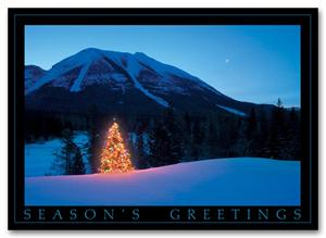 HP2322 Mountain Glow Holiday Card 7 7/8