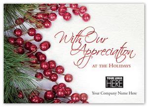 MT15040 Lavish Appreciation Holiday Logo Cards 7 7/8 x 5 5/8