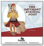 109379 The Saturday Evening Post Wall Calendars 10 x 19