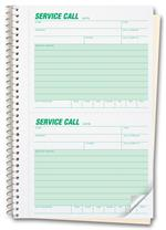 11 Phone Message Book - Service Call Book