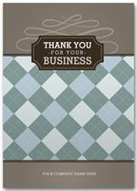 3ED011 Gatsby Thank You Cards 5 5/8 x 7 7/8