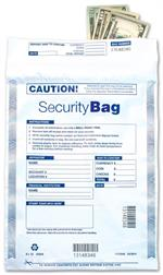 53848 Single Pocket Deposit Bag opaque 9 X 12