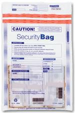 53849 Single Pocket Deposit Bag Clear 9 x 12