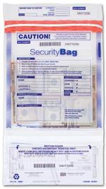 53857 Dual Pocket Deposit Bag Clear 9 1/2 x 15