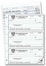 56500N 3 On A Page Compact Size Duplicate Checks with Register 6 x 2 3/4