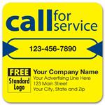 58166 Call for Service Labels on Yellow High Gloss 3 x 3