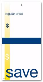 58238 Save Price Tag w/Navy and Gold Accents 3 1/8 x 6 1/4