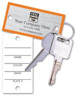 58251 Key Tag with Orange Borders 1.25 x 2.5