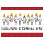 5ED108 Candid Candles Birthday Cards 7 7/8 x 5 5/8
