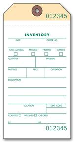 63650 2 or 3 part Inventory Tag 3 1/8 x 6 1/4