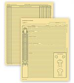C750 Chiropractic Exam Records Spinal Diagram Card File Fold 5 X 8