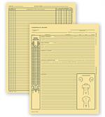 C7501 Chiropractic Exam Records Spinal Diagram Letter Style 8 1/4 x 10 3/4