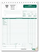 CON0123 Landscaping Invoice Large Format 8 1/2 x 11