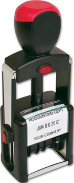 D142 Self Inking Metal Dater Stamp One Color