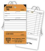 D304 Repair Tags Service Orange Detachable Claim Check 3 1/8 x 5 1/2