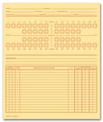 D60C Dental Exam Record Numbered Teeth System C Folder Style 4 x 6