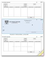 DLM276 Laser Middle Accounts Payable Checks 8 1/2 x 11