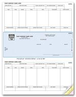 DLM331 Laser Middle Checks Payroll Peachtree Compatible
