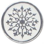 H1126 Holiday Card Seals Snowflake Silver