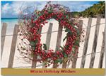 H13664 Beach Wishes Holiday Cards 7 7/8 x 5 5/8