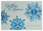 H14609 Silver Blue Holiday Cards 7 7/8 x 5 5/8