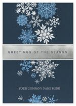H14610 Fall of Flakes Holiday Cards 5 5/8 x 7 7/8