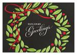 H14631 Greetings in Green Holiday Card