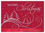 H15614 - N5614 Swirling with Delight Christmas Holiday Cards 7 7/8 x 5 5/8
