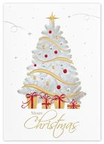 H15625 - N5625 Golden Gifts Christmas Holiday Cards 5 5/8 x 7 7/8