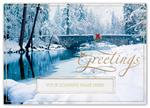 H15627 - N5627 Blissfully Bridged Holiday Cards 7 7/8 x 5 5/8