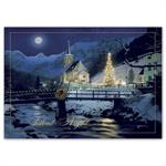 H16641 Graceful Night Holiday Cards 7 7/8