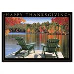 H16657 - N6657 Lake View Thanksgiving Cards 7 7/8 x 5 5/8
