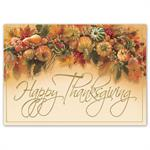H16659 - N6659 Harvest Gathering Thanksgiving Cards 7 7/8 x 5 5/8
